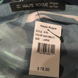 Haute Rogue Dresses - Haute Rogue palm print wrap maxi dress